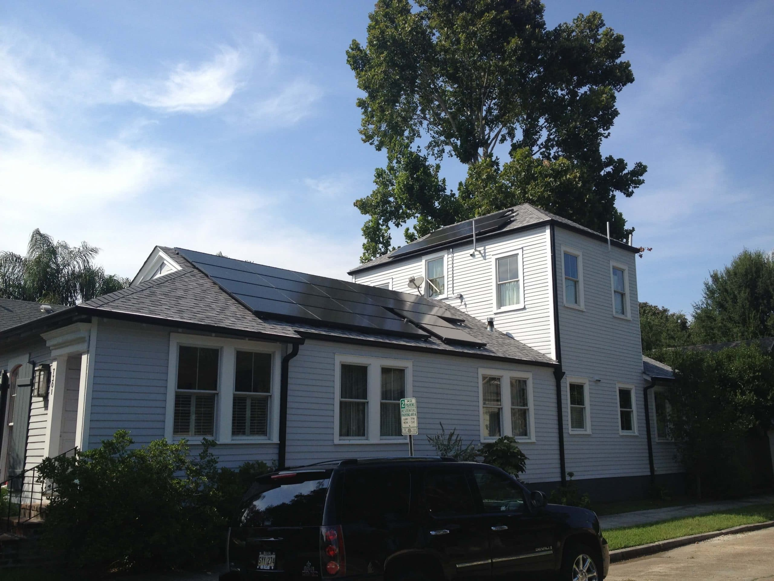 Home with Solar Energy Installed in New Orleans - Solar Alternatives