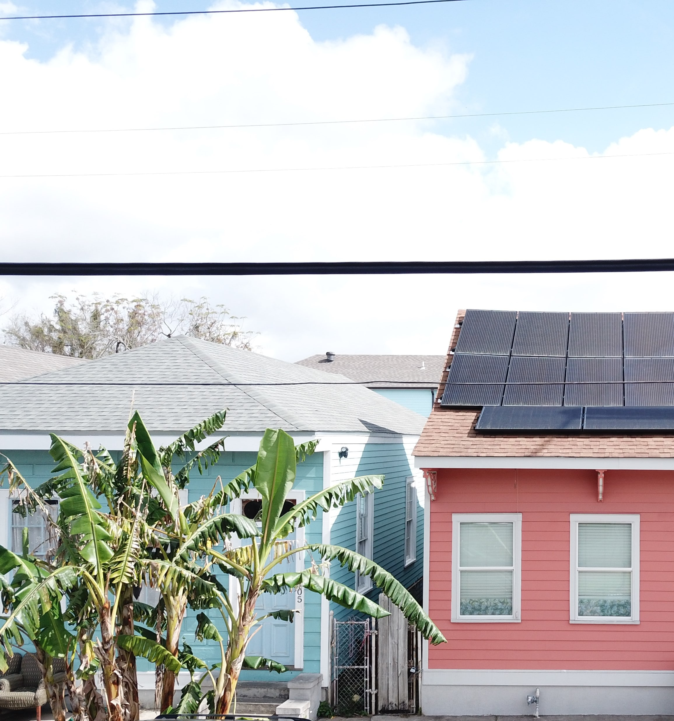 residents in New Orleans with Solar Panel - Solar Alternatives